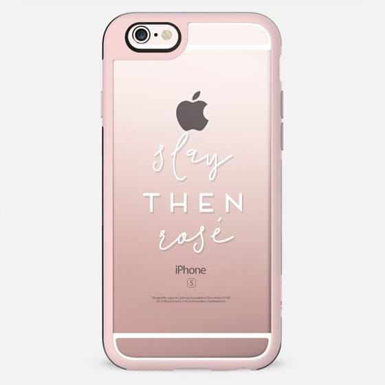 Slay Then Rosé - Semi-Transparent Case for Wine Lovers - New Standard Case