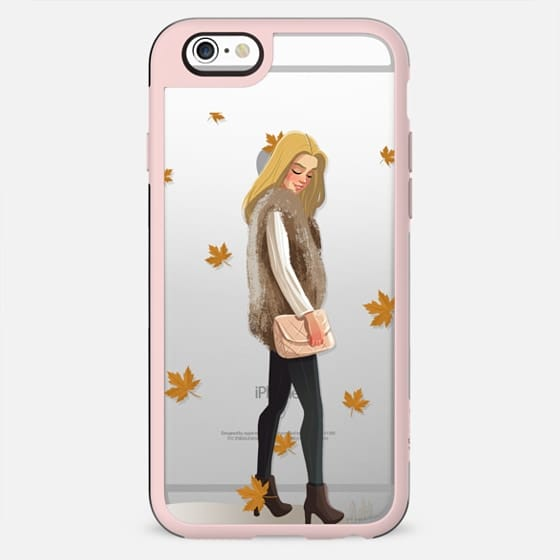 Autumn pug with leaves - New Standard Case