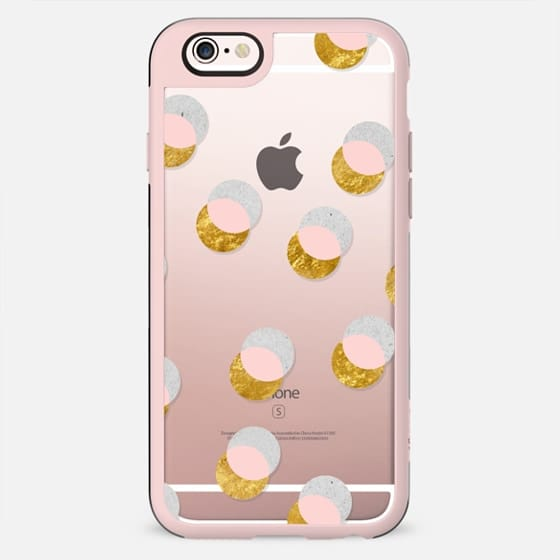 Gold and pastel dots