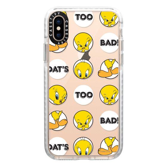 iPhone XS Cases - That's Too Bad Tweety Print