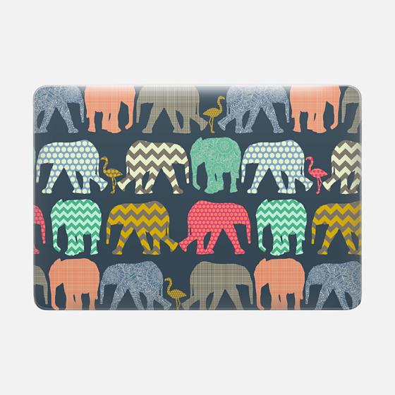 baby elephants and flamingos