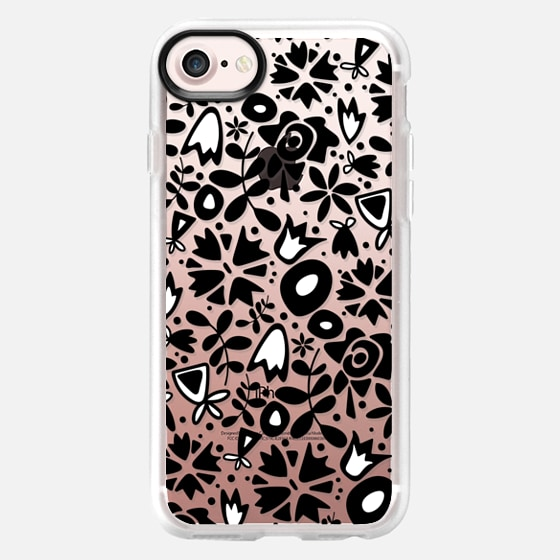 graphic garden black white transparent -
