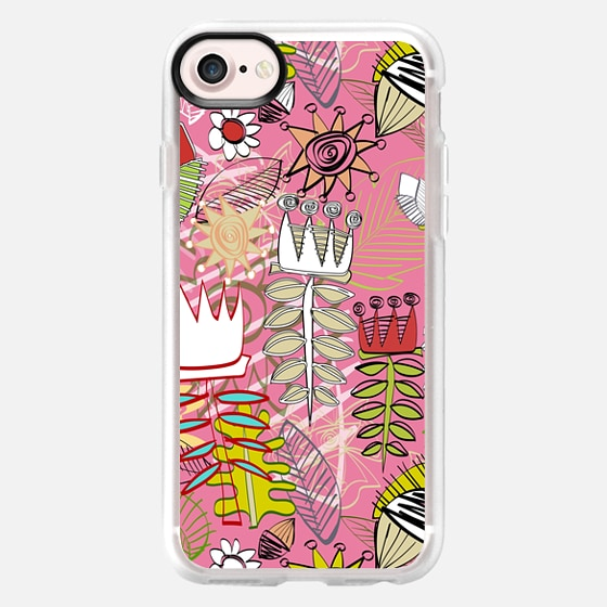 wired weed rose pink - Wallet Case