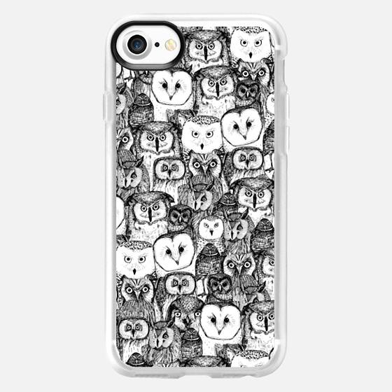 just owls black white - Wallet Case