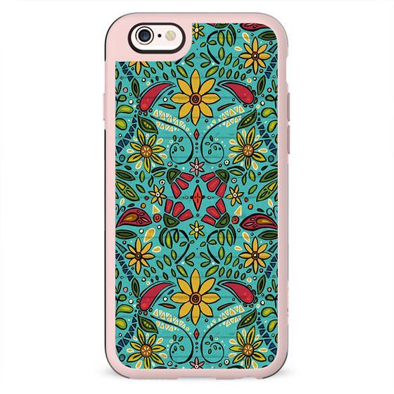 aziza turquoise boho floral