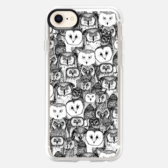 just owls black white - Snap Case