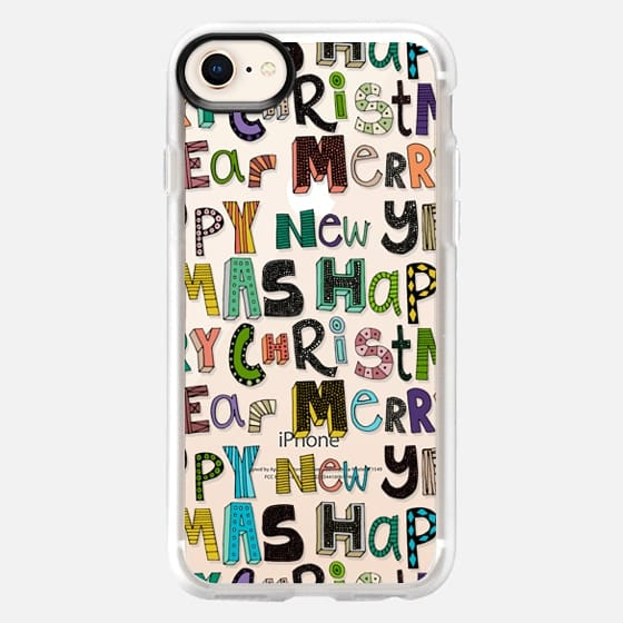 merry christmas happy new year transparent - Snap Case