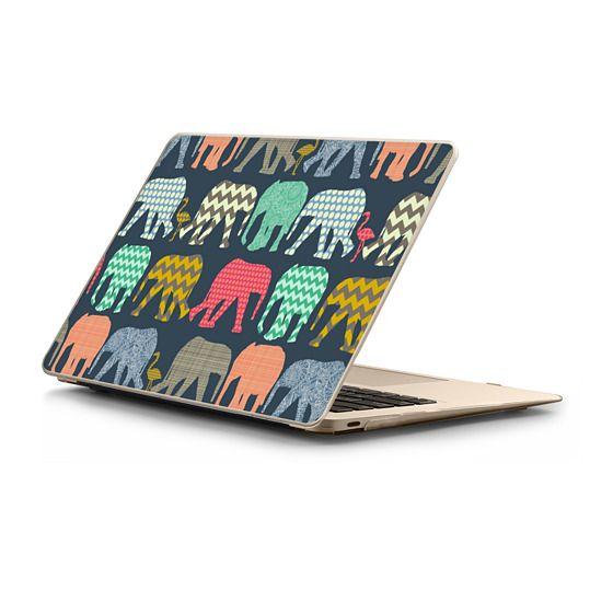 MacBook 12 Sleeves - baby elephants and flamingos