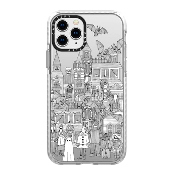 iPhone 11 Pro Cases - vintage halloween black white transparent