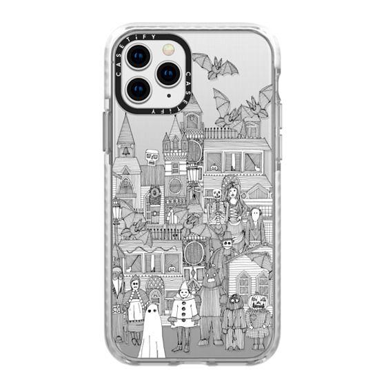 iPhone 11 Pro Cases - vintage halloween black white transparent