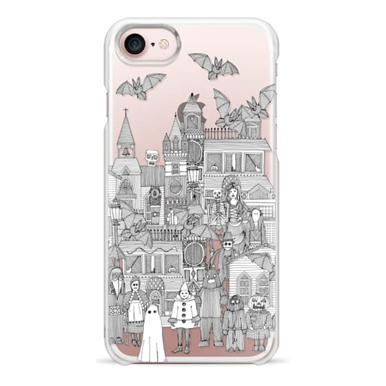 iPhone 7 Cases - vintage halloween black white transparent