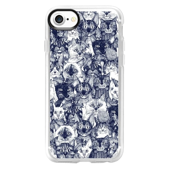 iPhone 7 Cases - CHRISTMAS CATS blue