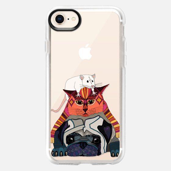 mouse cat pug transparent - Snap Case