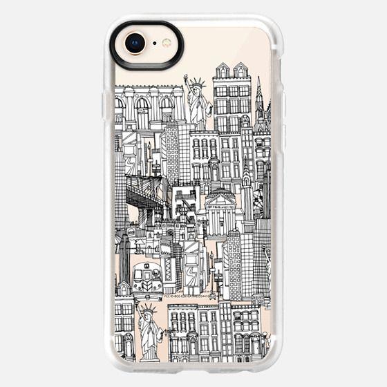 New York toile de jouy transparent - Snap Case