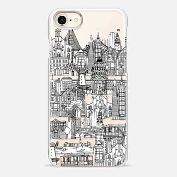iPhone 8 Case San Francisco toile de jouy transparent