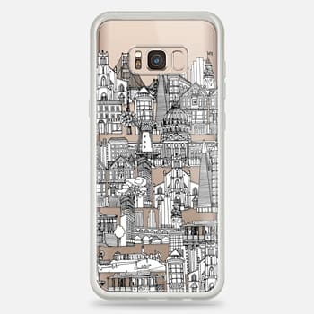 Samsung Galaxy S8+ Case San Francisco toile de jouy transparent
