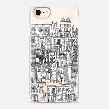 iPhone 8 Case New York toile de jouy transparent