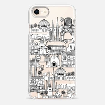 iPhone 8 Case Los Angeles toile de jouy transparent