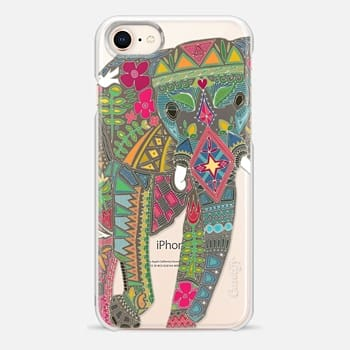 iPhone 8 Case painted elephant transparent