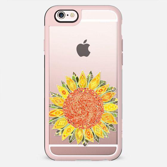single bright sunflower transparent - New Standard Case