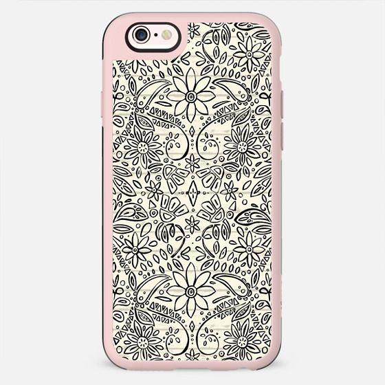 aziza mono boho floral - New Standard Case