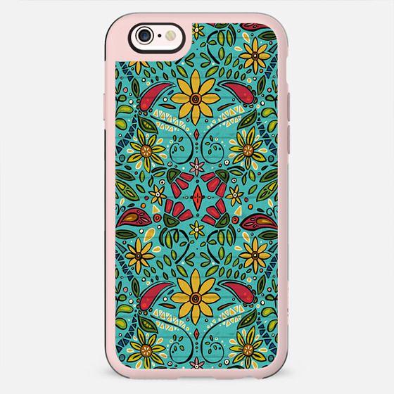 aziza turquoise boho floral - New Standard Case