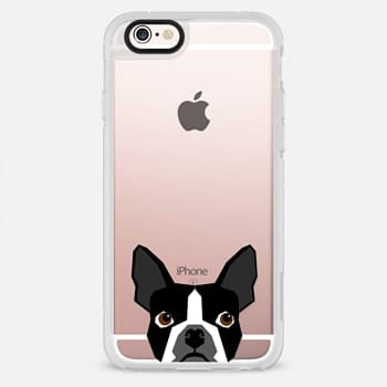 iPhone 6s Case Boston Terrier Cell Phone case for dog lovers dog person gifts clear iphone case black and white puppy