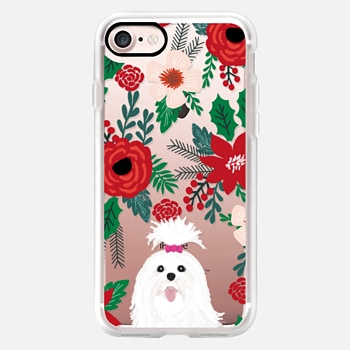 iPhone Case -  Shih Tzu christmas cell phone case gifts ideas for cute toy dog breed holiday themed