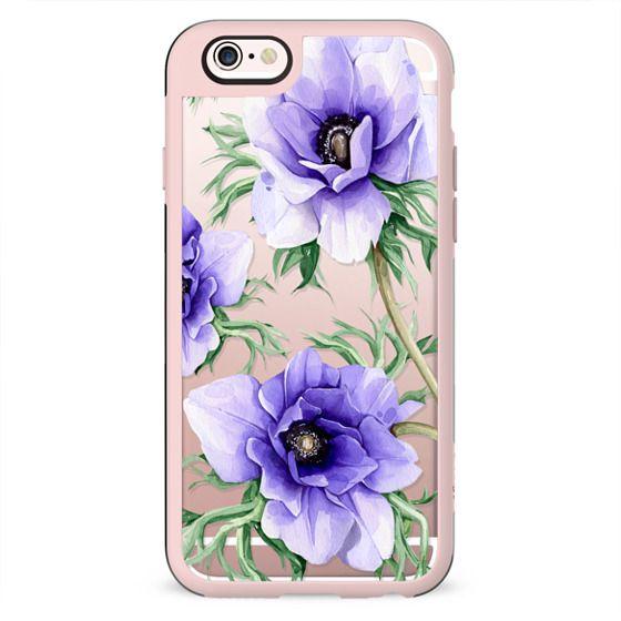 Big violet anemones
