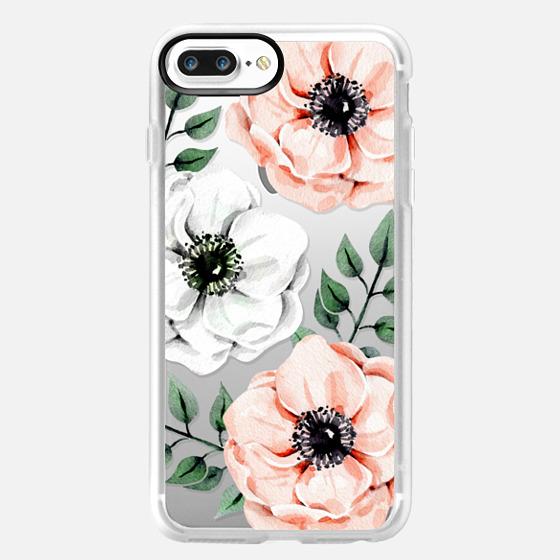 iPhone 7 Plus Case - Watercolor anemones
