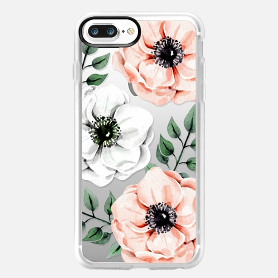 iPhone 7 Plus Capa - Watercolor anemones