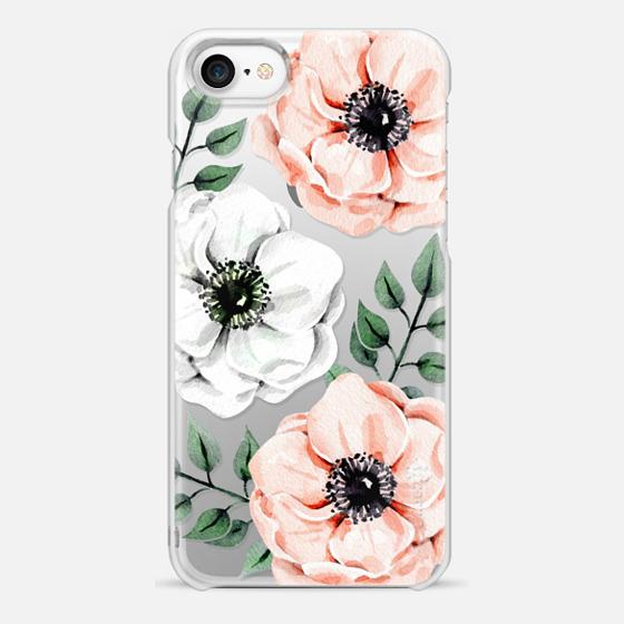 iPhone 7 保護殼 - Watercolor anemones