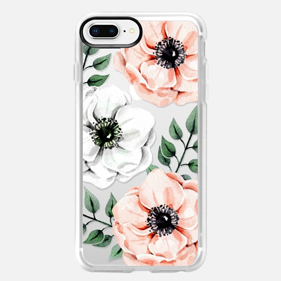 iPhone 8 Plus ケース - Watercolor anemones