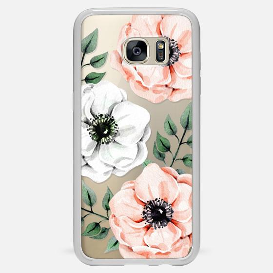 Galaxy S7 Edge Funda - Watercolor anemones