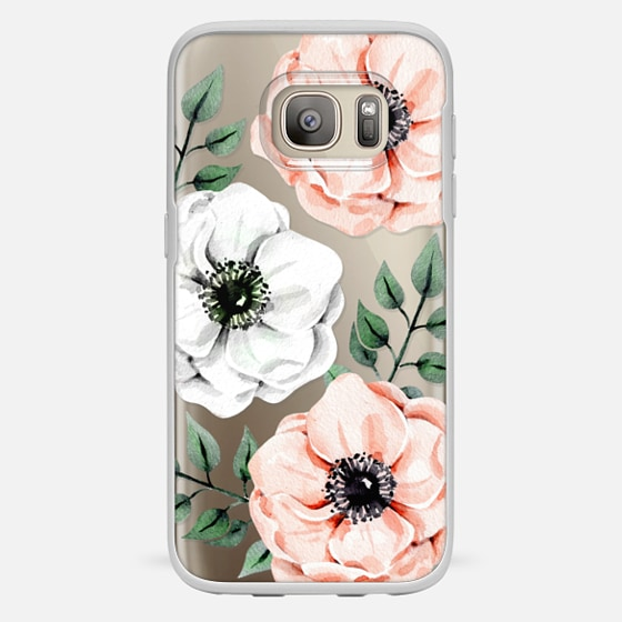 Galaxy S7 保护壳 - Watercolor anemones