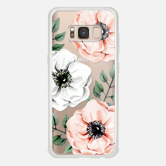 Galaxy S8 ケース - Watercolor anemones