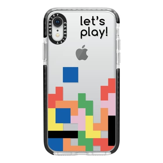 iPhone XR Cases - Colorful tetris game