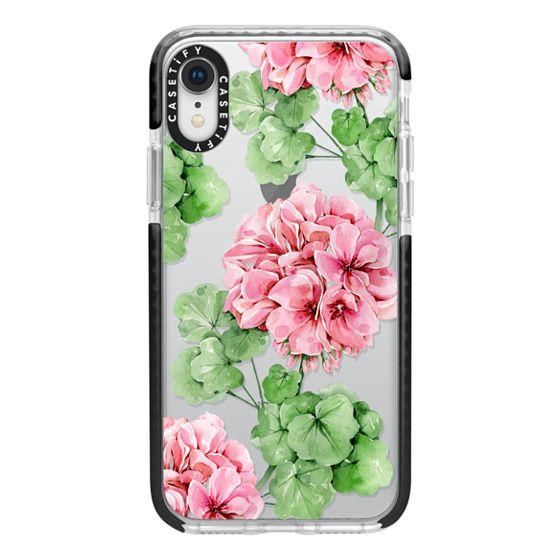iPhone XR Cases - Watercolor geranium