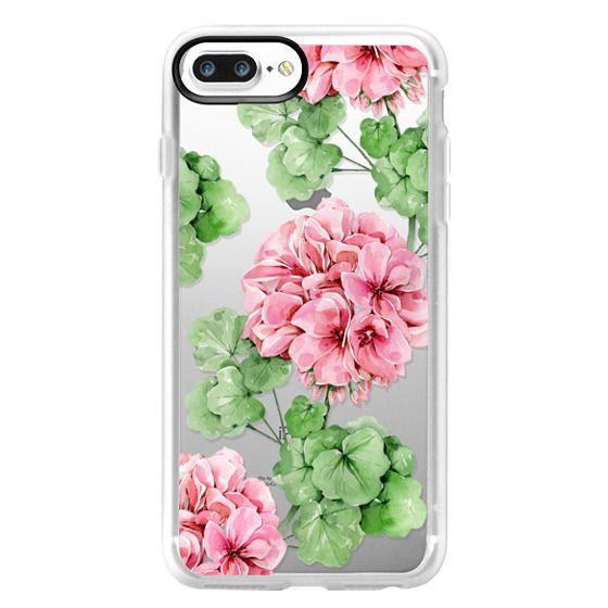 iPhone 7 Plus Cases - Watercolor geranium