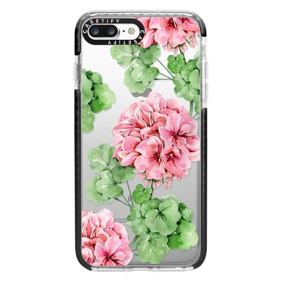 iPhone 7 Plus Cases - Watercolor geranium