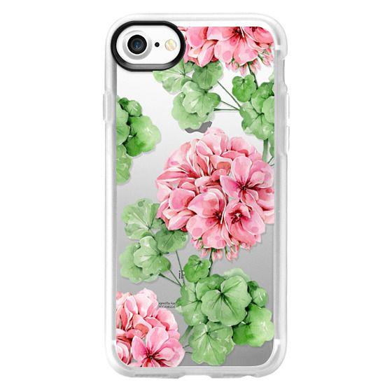 iPhone 7 Cases - Watercolor geranium