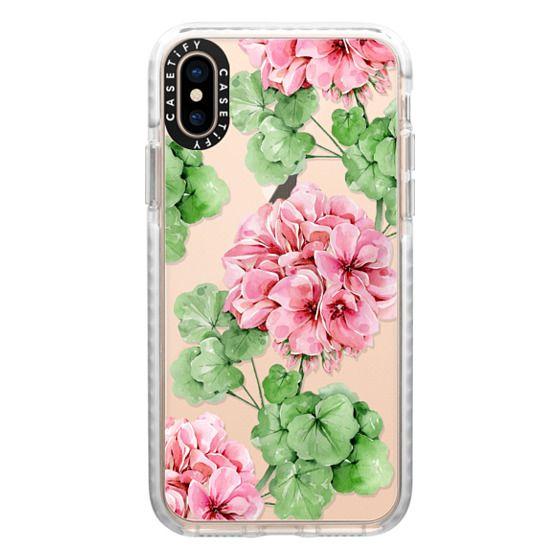 iPhone XS Cases - Watercolor geranium