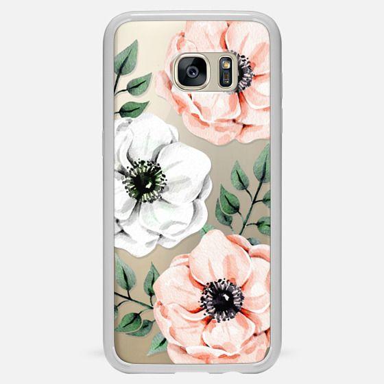 Galaxy S7 Edge Case - Watercolor anemones