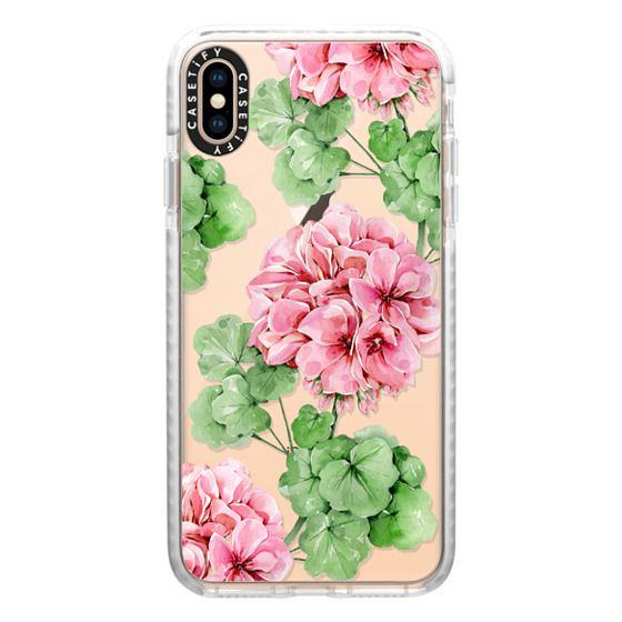 iPhone XS Max Cases - Watercolor geranium