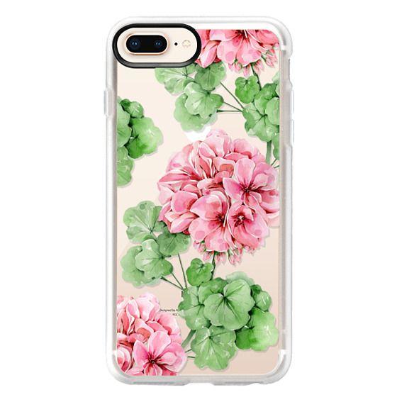 iPhone 8 Plus Cases - Watercolor geranium