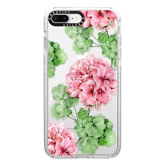 iPhone 8 Plus Cases - Watercolor geranium