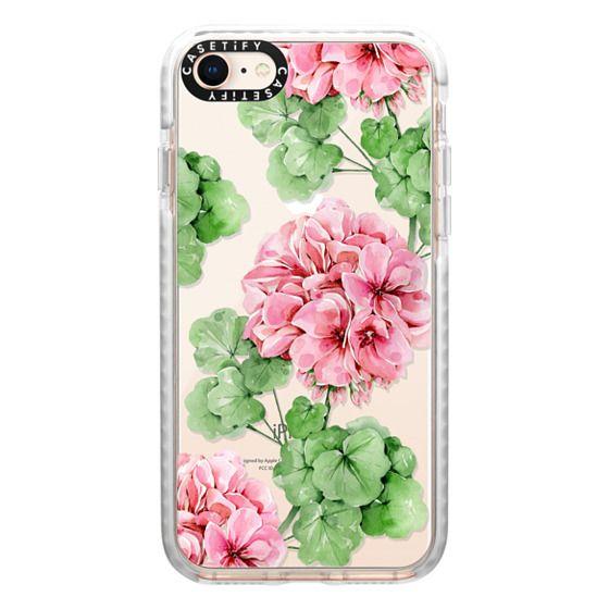 iPhone 8 Cases - Watercolor geranium