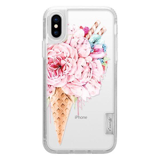 iPhone X Cases - Floral ice cream