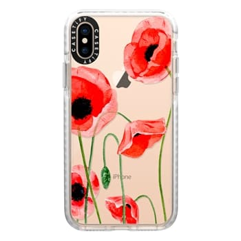 Impact iPhone Xs Case - Red poppies
