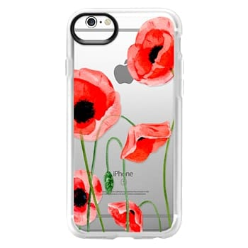 Grip iPhone 6s Case - Red poppies
